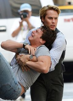Photo Flash: Taylor Kitsch, Jonathan Groff and Mark Ruffalo on the Set of THE NORMAL HEART!