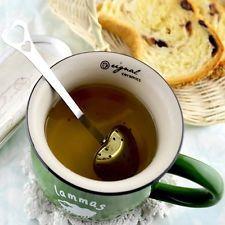 Heart Shape Stainless Steel Tea Infuser Spoon Strainer Steeper Handle Shower New