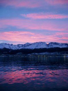 Ushuaia, Argentina sunset