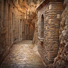 Beautiful stonework walls.