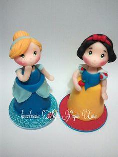 Princesas en porcelana fria,22cm.