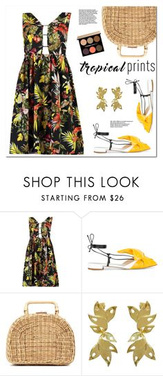 """""""Tropical Prints"""" by christinacastro830 ❤ liked on Polyvore featuring Boohoo, Giannico, Kayu, Riverlight and Lancôme"""