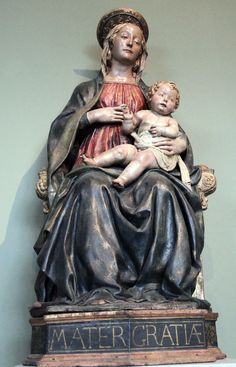 1 Benedetto da Maiano. 1442-1497. Vierge  trône. vers 1480. Berlin. Bode Museum..jpg
