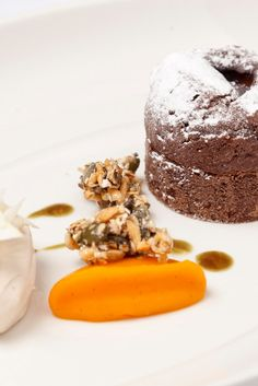 Nigel Mendham marries the flavours of chocolate, chestnut and squash in this wintery dessert recipe on Great British Chefs