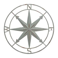Distressed Blue Compass Wall Plaque | Kirklands