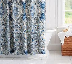 Beale Paisley Shower Curtain #potterybarn
