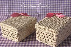 Carolina Crochet: Caixas de crochet