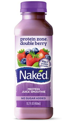 Naked Juice Smoothie protein zone double berry  ... 6 Strawberries 5 Blueberries 1 Banana 3 Apples