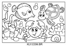 Desenho De Animais No Fundo Do Mar Para Colorir Ocean Coloring Pages, Coloring Books, Workout Routines For Beginners, Decoupage Vintage, Summer Crafts, Animal Photography, Snoopy, Comics, Fictional Characters