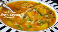 Canja de Galinha Soup Recipes, Cooking Recipes, Soups And Stews, Thai Red Curry, Carne, Risotto, Health Tips, Food And Drink, Low Carb