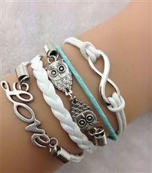 Love/ Owl Bracelet Set