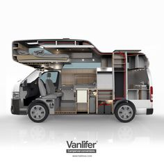 VANLIFER Conversions - Once we have a detailed 3D model of our designs, we produce various renderings to show our clients how their camper will be built. Here is one of our Toyota Hiace concepts