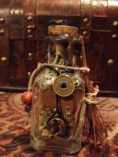 Samhain spell bottle...beautiful!
