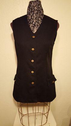 Vintage 60's Mod Polyester Tunic Vest by UmbrellaVintage on Etsy