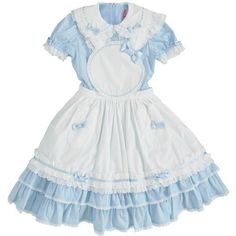 ❤ liked on Polyvore featuring dresses, lolita, alice in wonderland, blue and blue dress