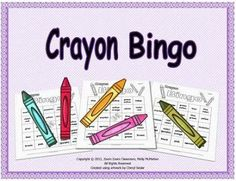 Read this post about how I design my Bingo products and get a FREE crayon colors Bingo game for your class.  This is a fun game to play with your students at the beginning of the school year.  There is also a FREE SMART Notebook file that can be used to project the first three Bingo cards on to a SMART board.