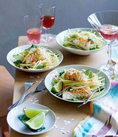 Calamari and green mango salad - Gourmet Traveller