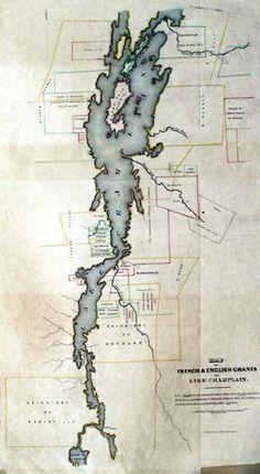 Map of Lake Champlain, 1850