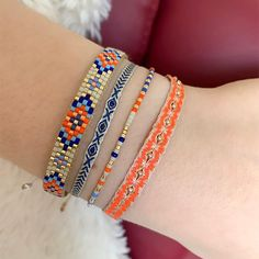 LeJu London - Set Of Three Bracelets With Lapis Lazuli Stone Bead Loom Bracelets, Jewelry Bracelets, Diamond Bracelets, Gemstone Bracelets, Silver Bracelets, Silver Ring, Beaded Jewelry, Gold Rings, Womens Jewelry Rings