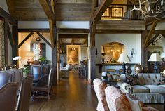 Cashiers, NC - traditional - living room - atlanta - The Berry Group