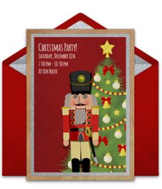 christmas party online invitations