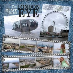 Scrapbook Pages london | London Eye - Digital Scrapbook Place Gallery