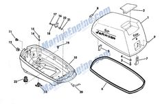 Johnson Motor Cover Group Parts for 1967 Outboard Motor Boat Engine, Aftermarket Parts, Outboard Motors, Boats, Fishing, Engineering, Group, Cover, Motors
