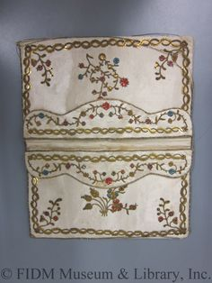 Pocketbook (image 2) | France | 1785 | silk, sequins | FIDM Museum | Helen Larson Historic Fashion Collection