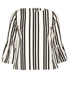 With summer right around the corner, it's time to stock up on cute, light, and office appropriate blouses. Look no further than this black and white striped number from Alice & Olivia, featuring ruffle sleeves and a high neckline. Blouse Outfit, Work Blouse, Summer Work Outfits, Cool Outfits, Casual Professional, Advanced Style, Spring Trends, Black White Stripes, Cute Tops