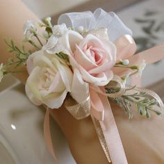 """🔑Materials: Lifelike rose flowers with greenery and rattan🔑Length: Dia. 5.8"""" Plus 1.9"""" to fit in different size🔑Occasions: perfect for any occasion like for bridesmaids, mothers, women in a wedding, suitable for any themed wedding like rustic, boho, french, country, etc, or prom, festivals, prom night, beach, snapshot, photograph props, etc window.adminAccountId=238810552; Homecoming Flowers, Homecoming Corsage, Bridesmaid Corsage, Prom Flowers, Bridal Shower Corsages, Wrist Corsage Wedding, Corsages For Wedding, Bridal Bouquets, Wristlet Corsage"""