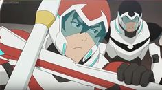 Keith protecting Shiro from the training robot from Voltron Legendary Defender