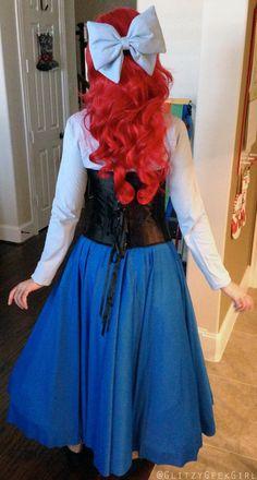 GLITZY GEEK GIRL: Tutorial: The Little Mermaid Ariel Cosplay