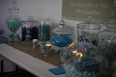 Blue Candy Bar at Wedding Reception in Loft 310 2011.