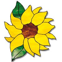 Free Printable Stained Glass Patterns | Free Pattern, Sunflower