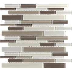 Toffee Linear Glass Mosaic Wall Tile (Common: 12-in x 12-in; Actual: 11.87-in x 12-in)
