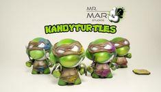 "KANDY TURTLES 3"" CUSTOM KIDROBOT MICRO MUNNY by Mr Mars"