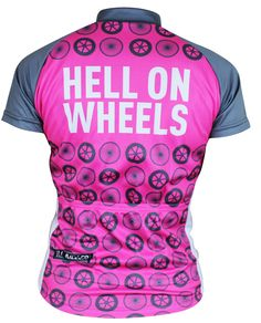 Woman s Hell on Wheels Retro Cycling Jersey Cycling Equipment 922a7e4dd