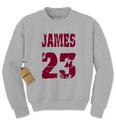 James 23 Cleveland Basketball Adult Crewneck Sweatshirt