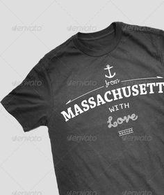 #Massachusetts #T-Shirt #Design - Sports & Teams T-Shirts Download here: https://graphicriver.net/item/massachusetts-tshirt-design/3893995?ref=alena994