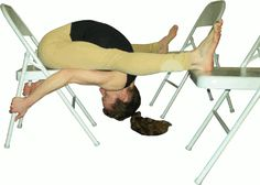 front bend with chair assisted