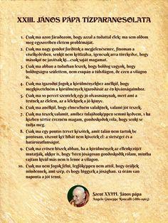 XXIII. János pápa tízparancsolata