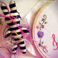Bordados com aquarela / Embroidery and watercolor / Artembroidery / drigalindo1@gmail.com