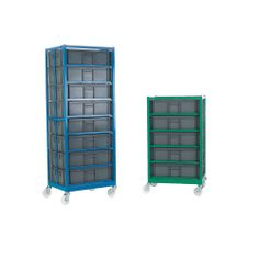 Mobile Container Racks with Containers