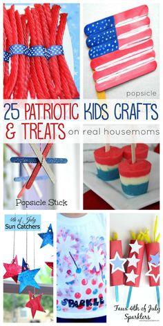 25 Patriotic Kids Crafts & Treats   Real Housemoms