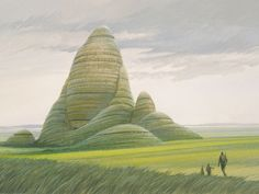 Early Pre-Production Art for Grassy Planet in ROTJ - Ralph McQuarrie