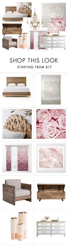 """""""Bedroom"""" by jada-marie12131 ❤ liked on Polyvore featuring interior, interiors, interior design, home, home decor, interior decorating, Urban Outfitters, PBteen, Kosas Collections and Hawkins"""