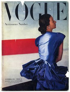 Dorian Leigh on the cover of Vogue...1946 * 1500 free paper dolls fashion & style at Arielle Gabriel's The International Paper Doll Society #QuanYin5 Twitter QuanYin5 Linked In #ArtrA