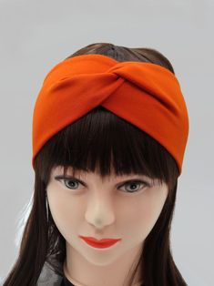 Orange Headbands/Stretchy Headband burnt Orange/Womens | Etsy Knotted Headband, Stretchy Headbands, Twist Headband, Turban Headbands, Headbands For Women, Burnt Orange, Head Wraps, Burns, Rust