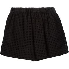 M Missoni embroidered wide leg shorts (260 AUD) ❤ liked on Polyvore featuring shorts, bottoms, black, black cotton shorts, embroidered shorts, m missoni, black shorts and cotton shorts