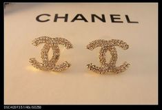 Coco Chanel earrings - the classic double C. I've wanted a pair of these since I was little!